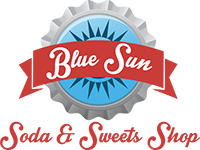 Blue Sun Soda Shop Logo