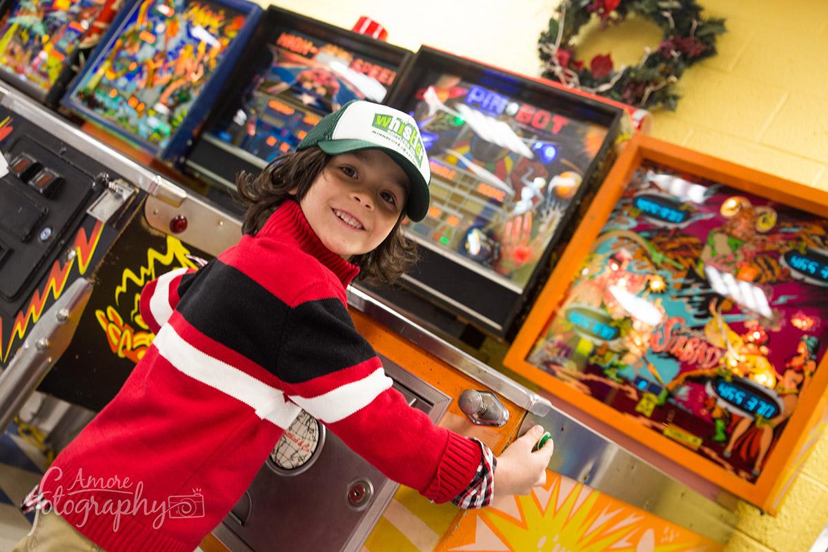 Enjoying a Pinball Game in MN image