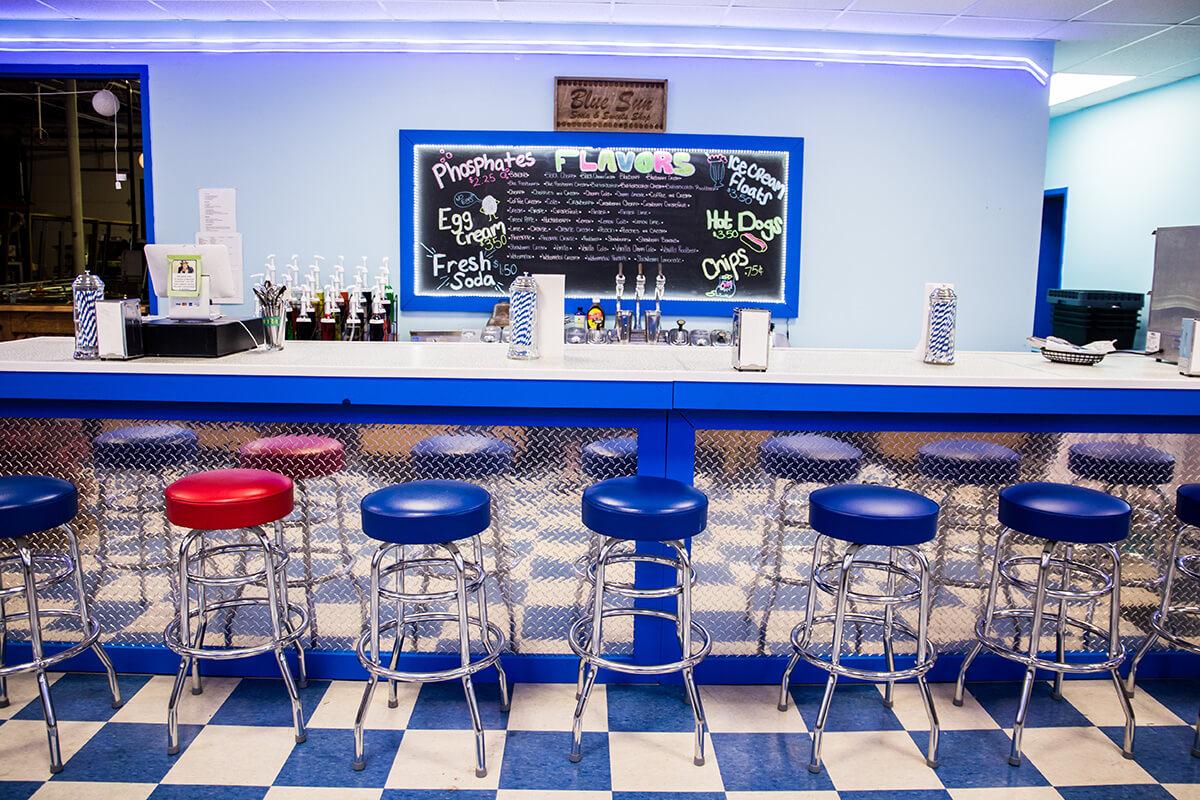 Image of Blue Sun Soda Fountain Counter