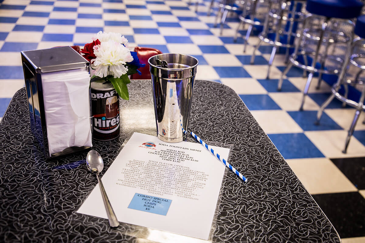 Image of an Old Time Diner Table