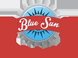 Blue Sun Soda Shop Logo