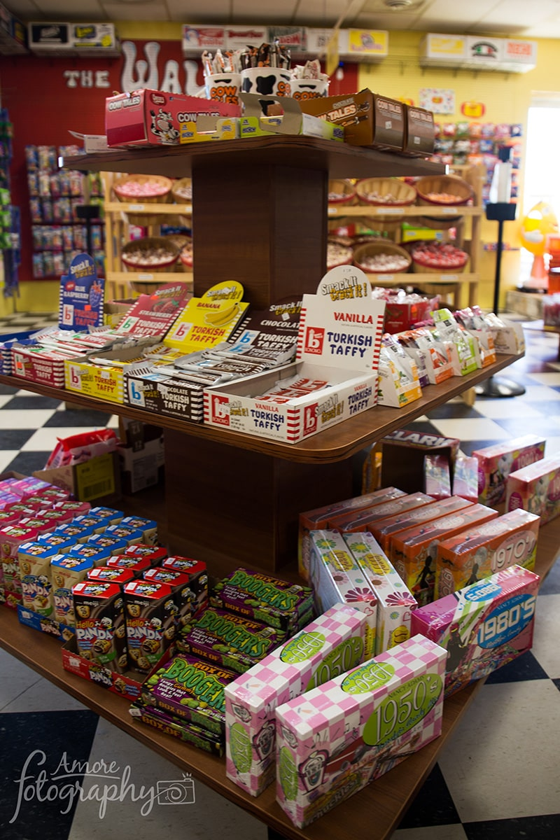 Image of a Display Stand of Various Candy Options